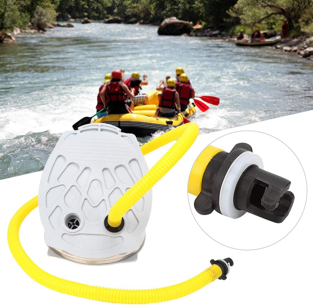 Luftpumpe Inflator Balg Fu/ßpumpe Beibootpumpe Jimfoty Fu/ßpumpe Pumpenkajak zum Angeln Schlauchboot Schlauchboot Schlauchboot
