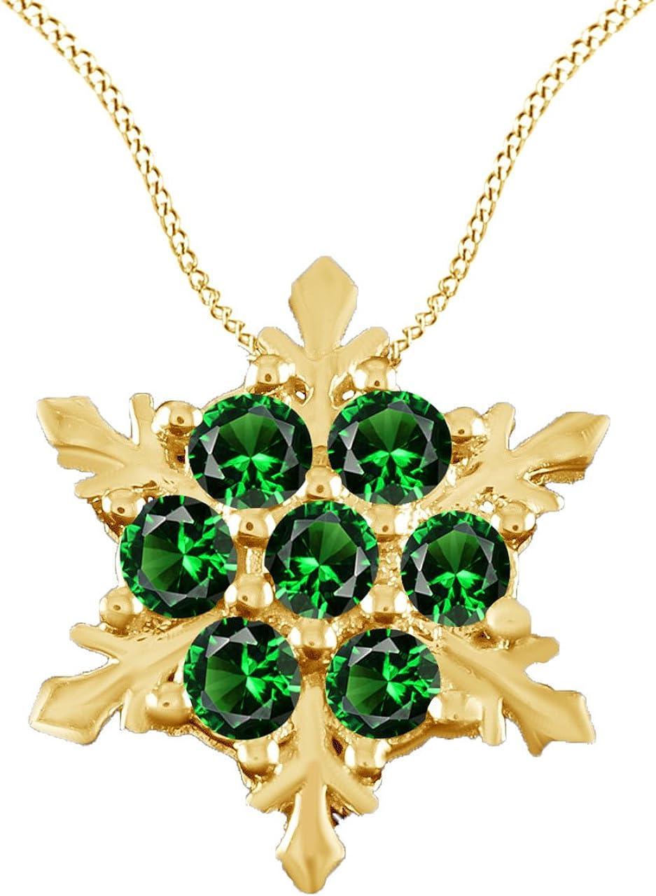 AFFY Lightning Bolt Fashion Pendant Necklace in 14k Gold Over Sterling Silver