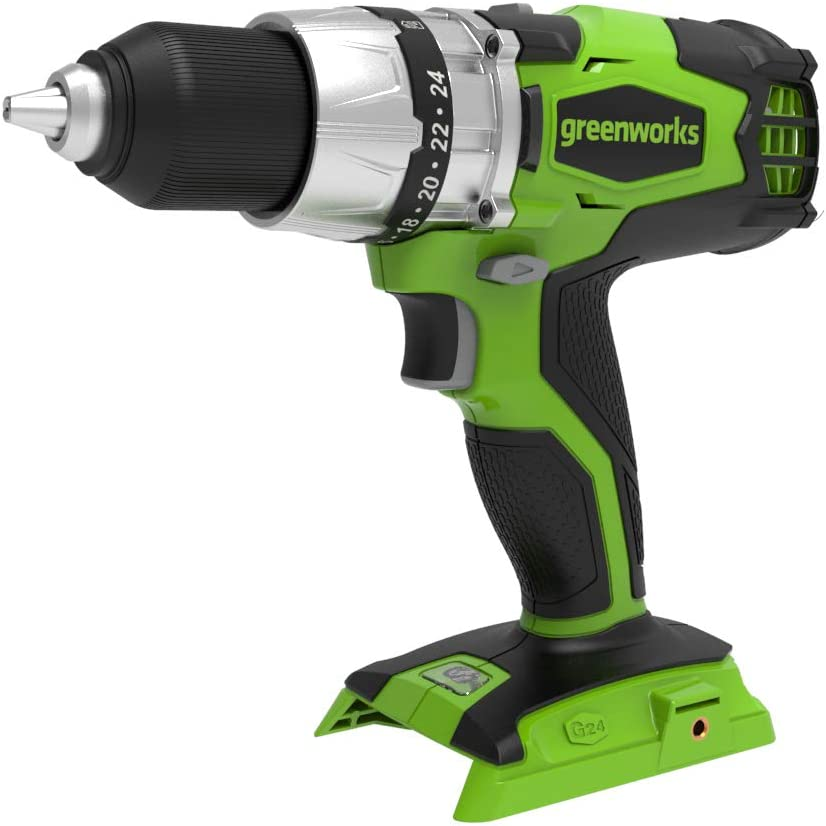 Battery and charger not included 3701607 Greenworks 24V Cordless Brushless Drill