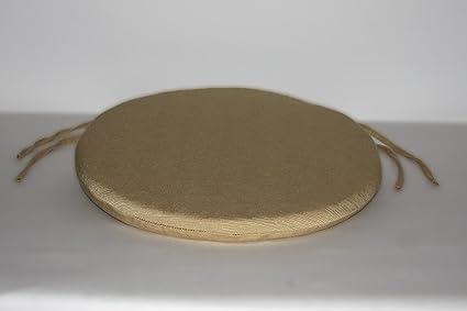 Arketicom set 4 pz cuscini sedie cucina rotondi sfoderabili con