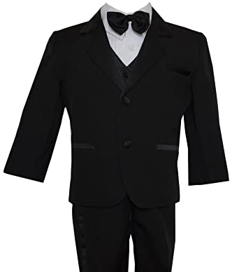c65e38842 Boys Kids Black Tuxedo Suit Bow Tie Toddlers – Teens Size (Small – 20).  Roll over image to zoom in