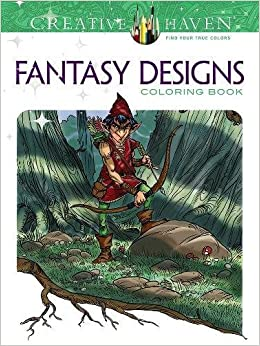 Amazon Creative Haven Fantasy Designs Coloring Book Adult 9780486801285 Aaron Pocock Books