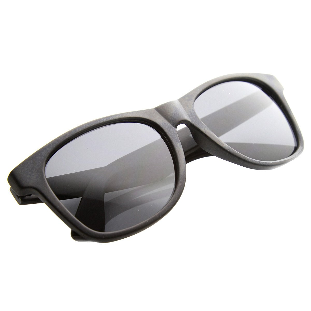 Mens Retro Classic Clean Plastic Horned Rimmed Sunglasses