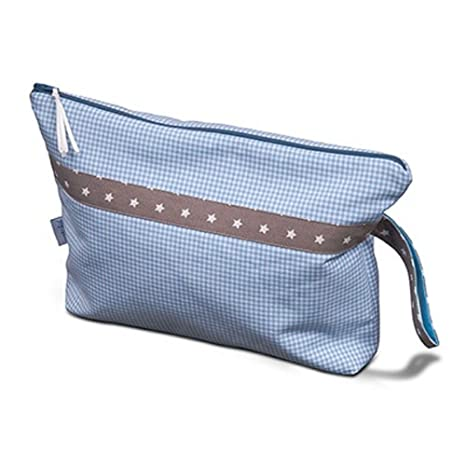 Bolsa para Viaje, bolsa para pañales cuadros, color azul ...
