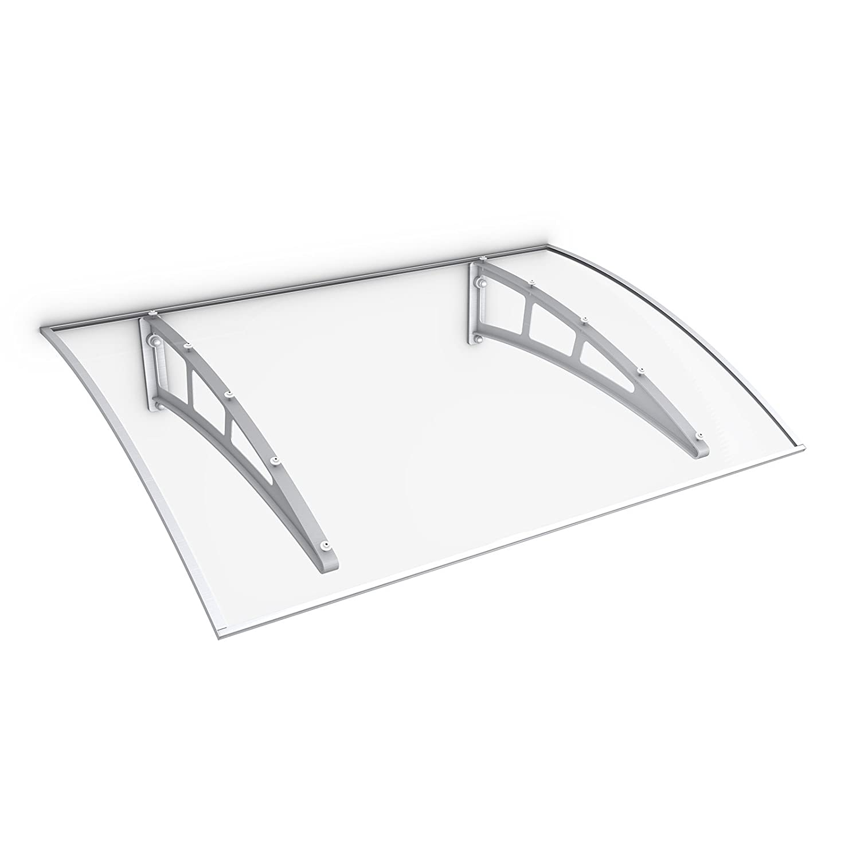 Schulte Haust/ür-Vordach /Überdachung 10 mm Polycarbonat-Hohlkammerplatte Kunststoff-Halterungen anthrazit 138x95 cm