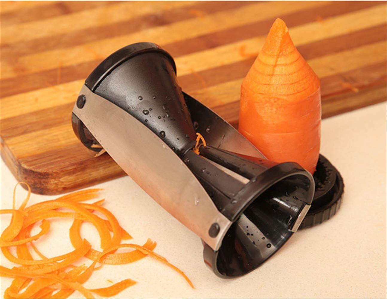 Cortador de verduras en espiral Cortador en Espiral Vegetal,cortador de pepino,pelador de zanahoria Negro