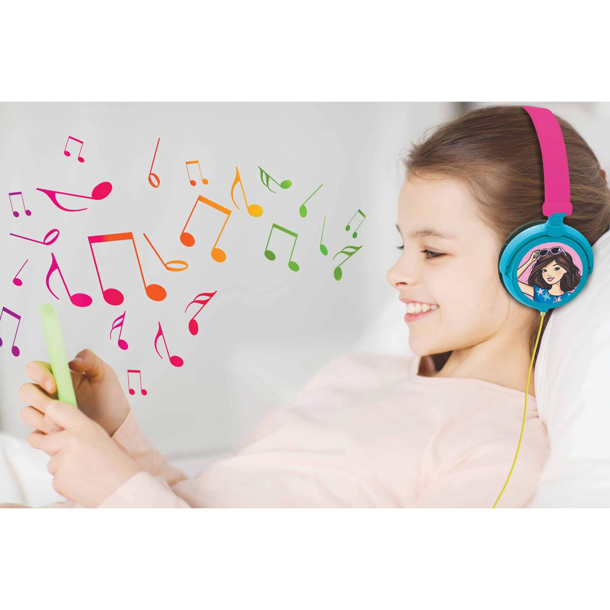 Cuffie Stereo HP010BB Pieghevole e Regolabile Alimentazione a Misura di Bambino Rosa LEXIBOOK Barbie