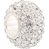Housweety Bijou En Argent 1 Perle Strass Tch¨¨que Strass Argent sterling 925