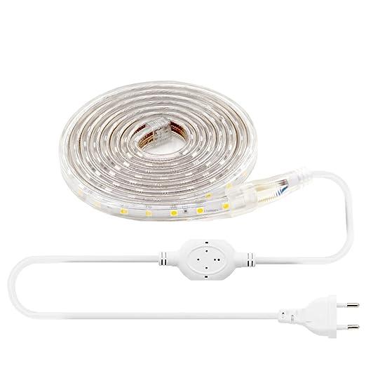 16 opinioni per LEBRIGHT 2M(6.6ft) striscia led 60 LED / M SMD 5050 3000K, 230V IP68 luce di