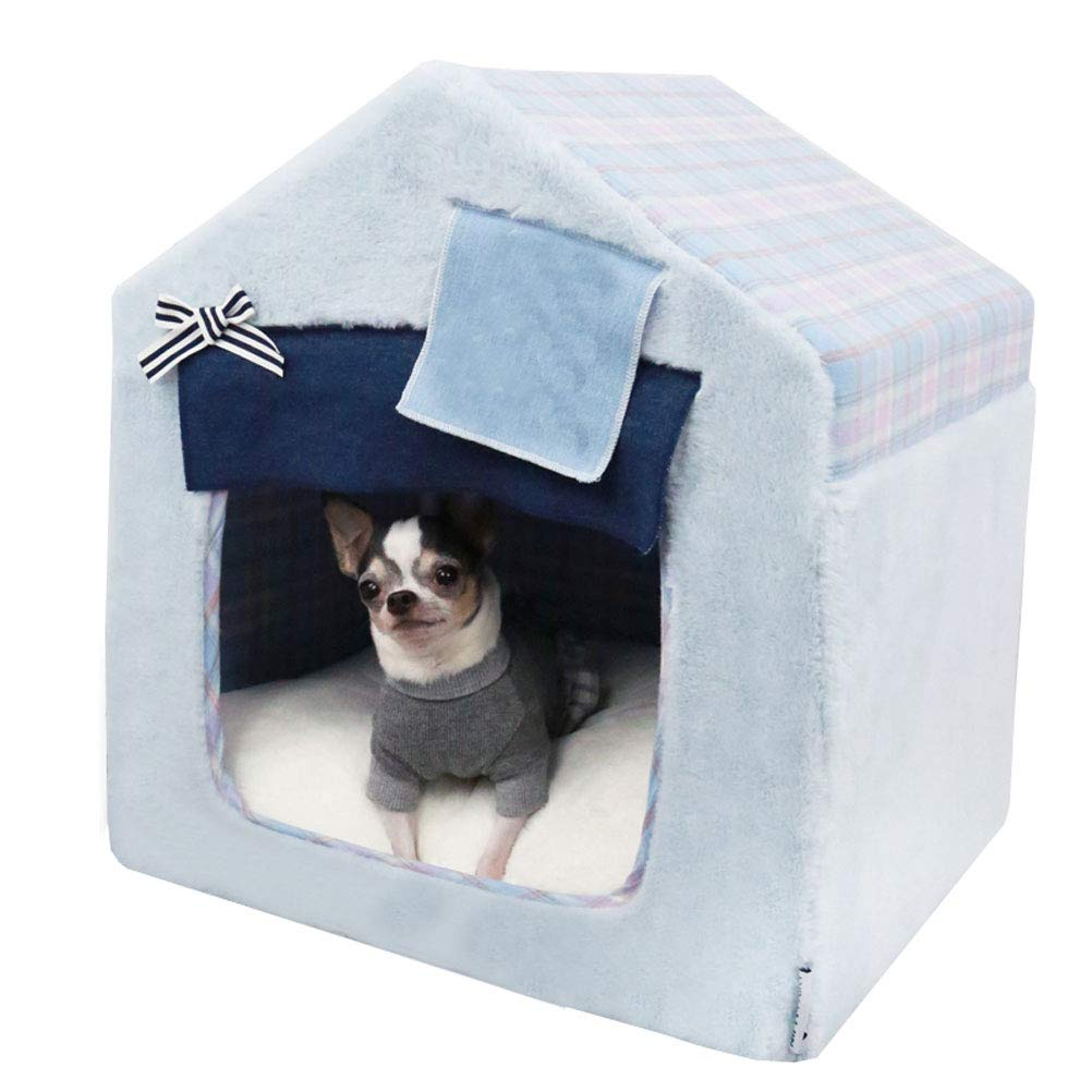 M GCHOME Dog bed Dog Bed,Washable Removable Cat Bed Cat Nest Dog house,Waterproof Breathable Non-slip Plush Warm Cushion Indoor Medium Pet Nest (Size   M)