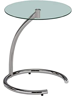863ce1f1a4bc Amazon.com  Cassie Round Accent Table with Glass by Winsome  Wall Art