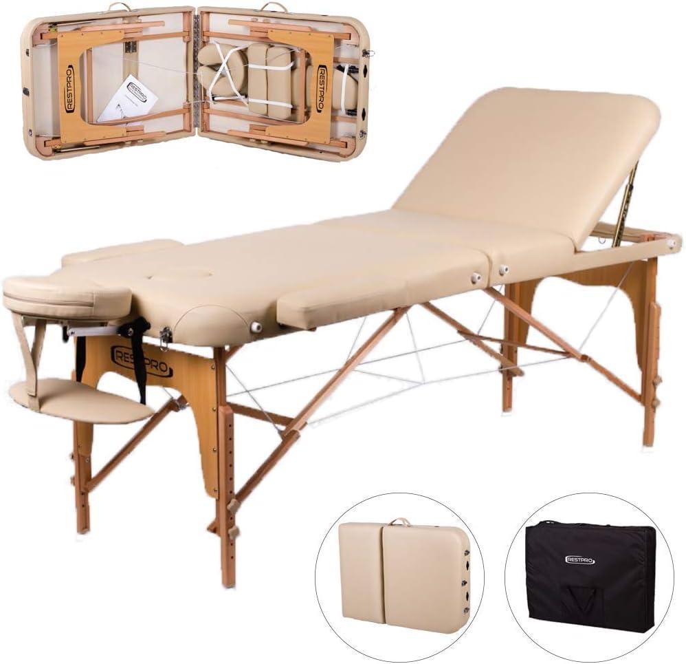RESTPRO Memory Premium - Camilla de masaje plegable con 3 zonas ...