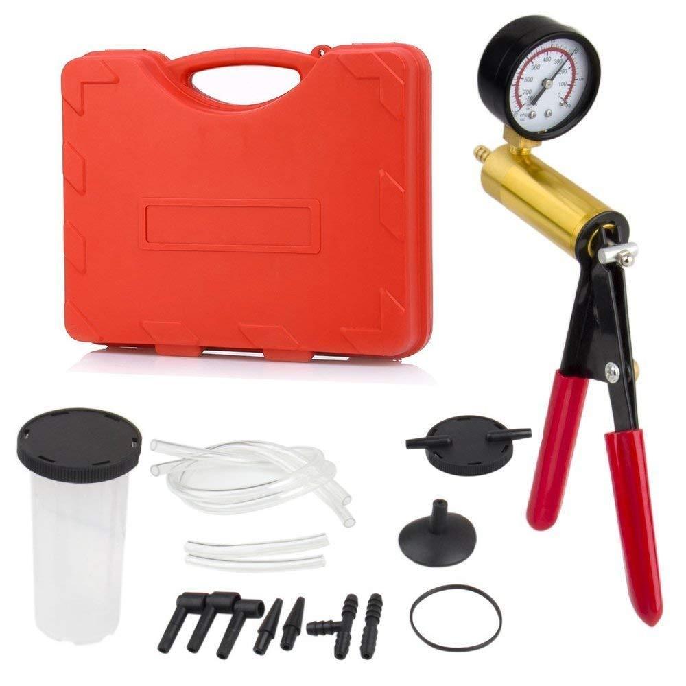 Podoy 2 in 1 Brake Bleeder Kit Handheld Vacuum Pump Test Set Tuner kit for Automotive Tuner Tools Adapters Case by Podoy (Image #2)