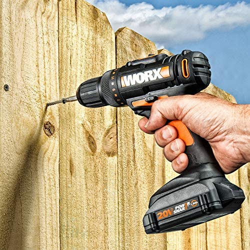 WORX WX944L 20V Cordless Drill Driver WX101L and 20V Lithium Cordless Impact Driver WX290L Combo Kit Battery and Charger Included
