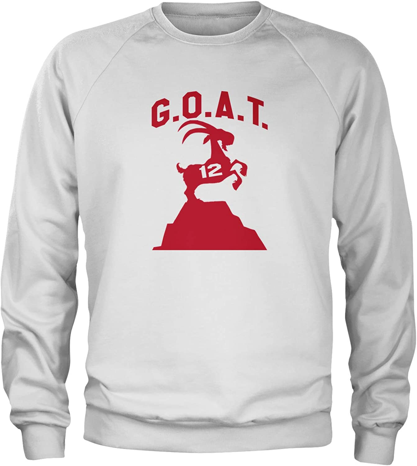Expression Tees G.O.A.T Greatest of All Time New England Football Crewneck Sweatshirt