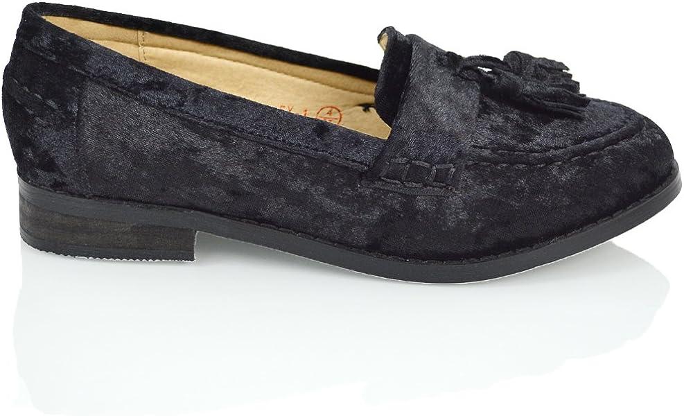 d7cf44e368b ESSEX GLAM Women s Velvet Slip On Tassel Fringe Loafer Flats (5 B(M)