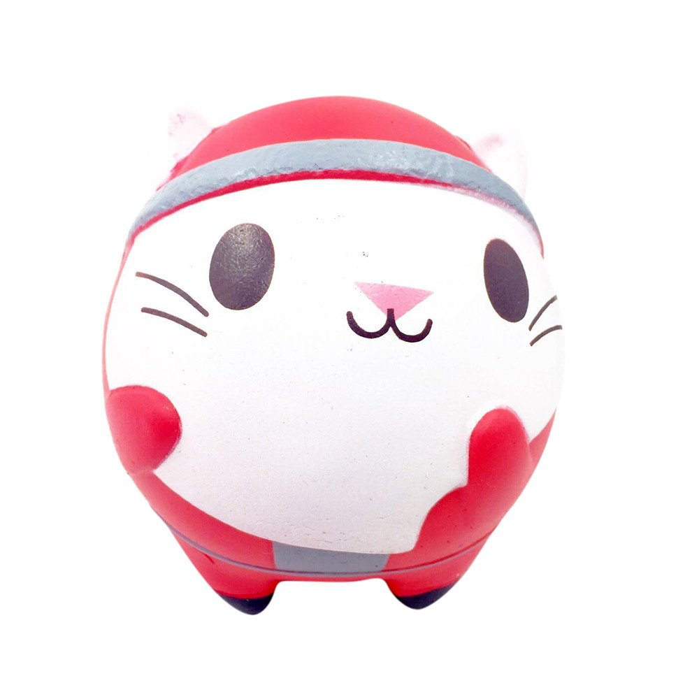 Christmas Squishy Toy Jumbo Squeeze Toys Kawaii Cartoon Cute Cat Cream Scented Slow Rising Squishies Charms For Kid And Adults, Funny Lovely Toy Stress Relief Toy Cell Phone Straps Key Chains Toy
