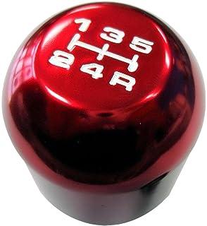 92-95 HONDA CIVIC EX LX SI ROUND SHIFT KNOB 5 SPEED RED