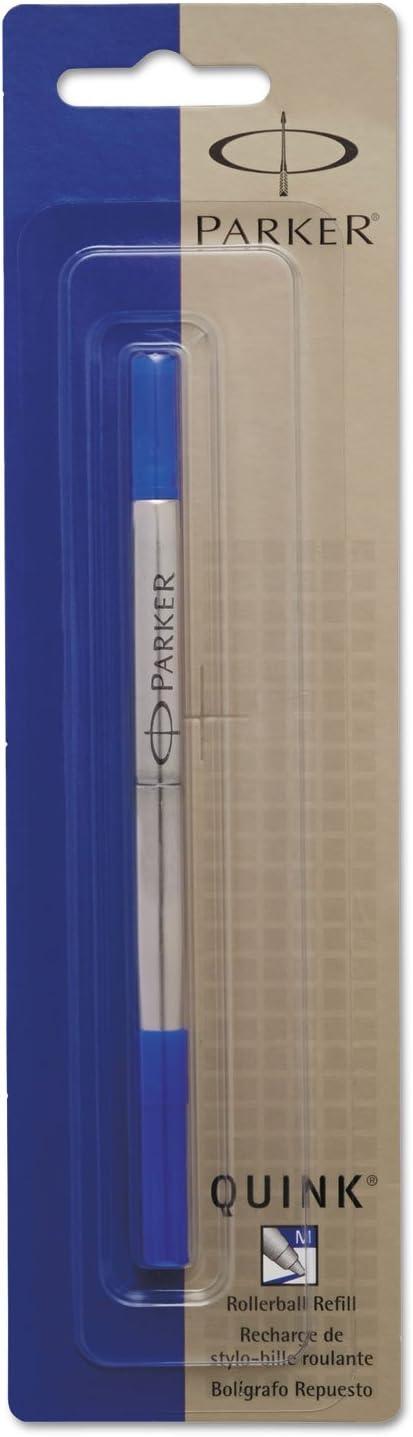 Medium Blue Ink Parker 3022531 Refill for Roller Ball Pens