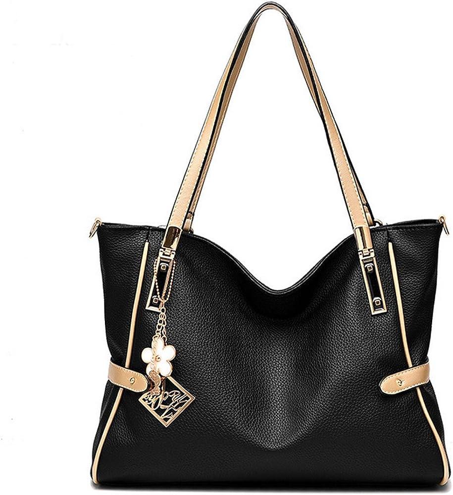 Amazon.com: homeda bolso de piel para mujer, gran capacidad ...