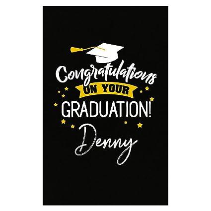 0621815425b5 Amazon.com: My Family Tee Personalized Graduation Gift Denny Men Guy ...