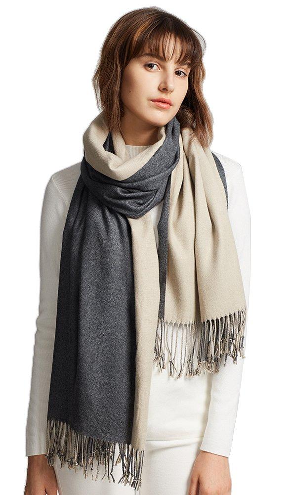 MaaMgic Womens Soft Cashmere Feel Pashmina Shawls Wraps Large Long Winter Scarf