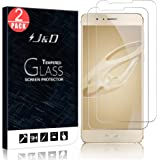 Huawei Honor 8 Screen Protector, J&D Glass Screen Protector [Tempered Glass] HD Clear Ballistic Glass Screen Protector for Huawei Honor 8 - Protect Screen From Drop and Scratch (2 Packs)