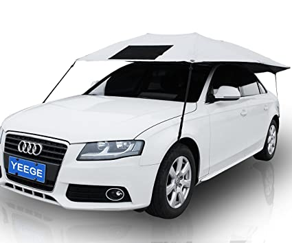 car shade cover	  Amazon.com: YEEGE Universal Fit Car Sun Shade Canopy Cover - Nylon ...
