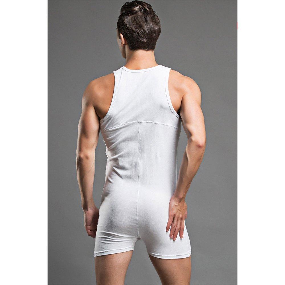 Amazon.com  Men Bodysuit Gay Penis Pouch Body Suits Man Bodywear  Bodybuilding Cotton Man Tank Top  Clothing 0f340abbd