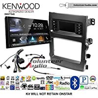 Volunteer Audio Kenwood DMX7704S Double Din Radio Install Kit with Apple CarPlay Android Auto Bluetooth Fits 2013-2017 Chevrolet Malibu
