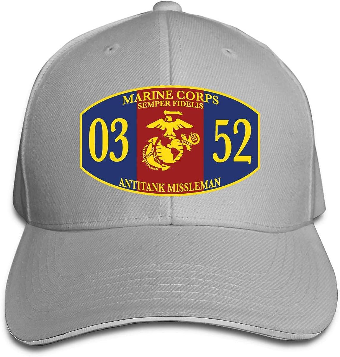 Unisex Athletic Baseball Fitted Cap TAKA Mortarman 0352 MOS Marine