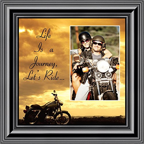 (Motorcycle, Harley Davidson Personalized Picture Frame, Lets Ride Sky Personalized Picture,)
