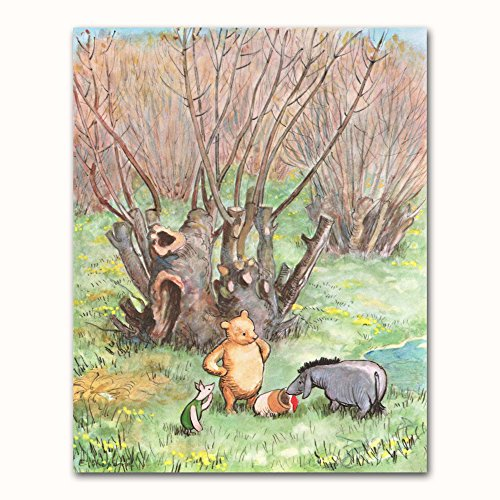 Classic Winnie the Pooh Baby Art (Nursery Wall Decor, Childrens Print)
