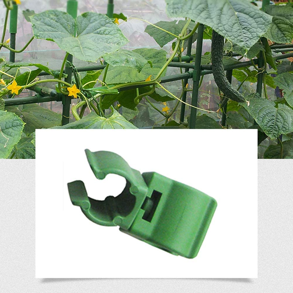 GWOKWAI 36Pcs Plant Trellis Connector Clip, Adjustable Green Climbing Rattan Stent Accessories Universal Plant Connector Stake Clip for Garden Orchard Tomato Cage 20mm (0.78in)