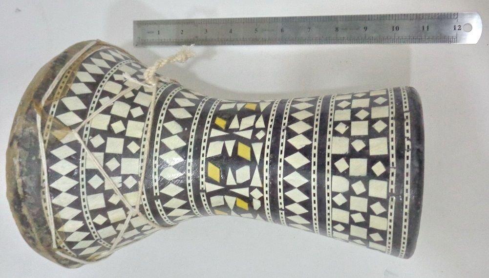 1PCS Large Egyptian Wooden Tabla Drum Doumbek Goat Skin Inlaid Handmade 11'' ,WHO#-MVOW382HRT13710
