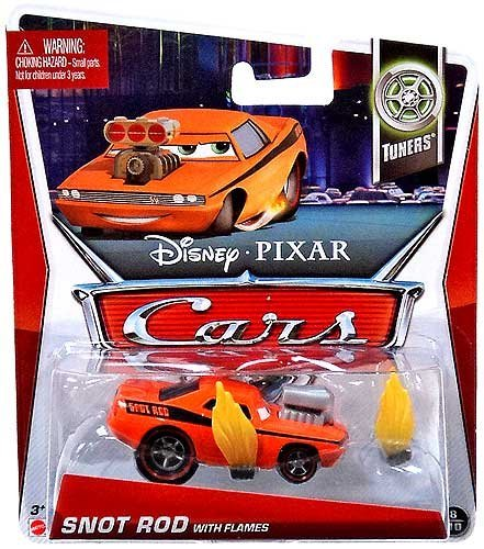 Snot Rod - Disney/Pixar Cars 2013 Tuners Die-Cast Snot Rod with Flames #8/10 1:55 Scale