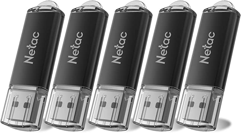 TALLA 5x8 GB. Netac Memoria USB 8gb, Mini Pendrive de Estilo Clásico de Negocio, Pen Drive 8 GB de Aleación de Aluminio con Grabado Láser, Pendrive Pack Compatible con Ordenador/TV Box/Coche, etc(USB 2.0 / Pack 5)