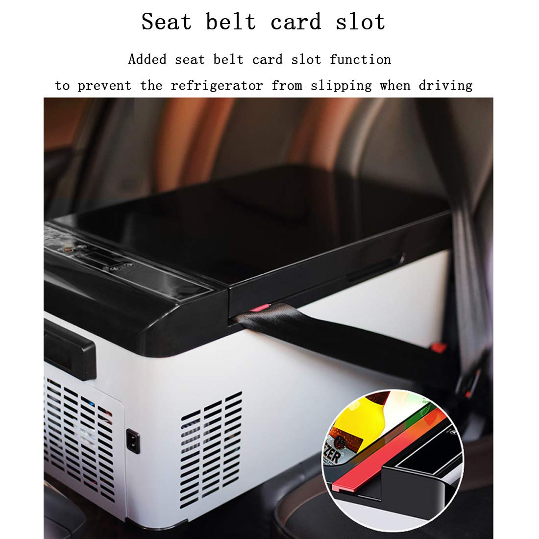 Interior Accessories Car Refrigerator Intelligent LCD Touch Screen,Oscillation Protection,Compressor Refrigeration,Overvoltage Protection-DC12/24V-AC220V 17.3L