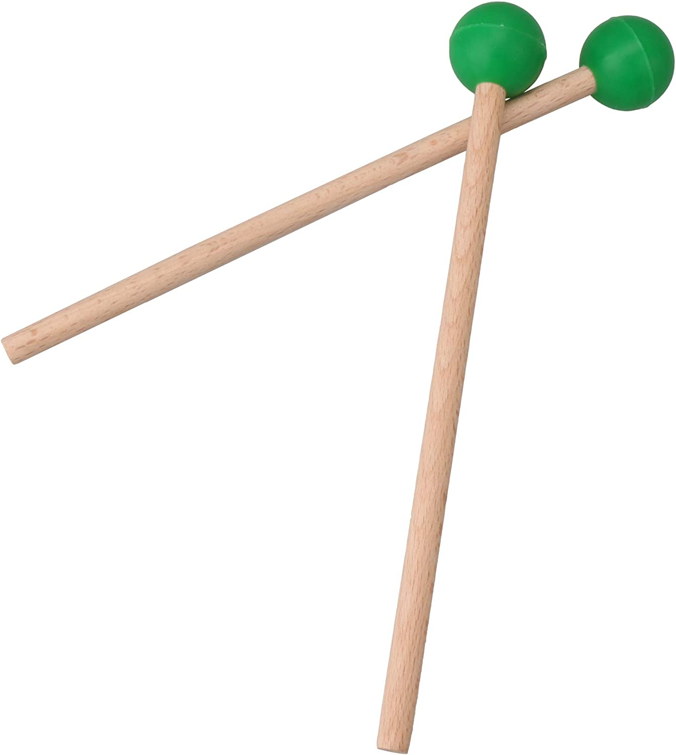 BQLZR Green Rubber Head Drum Mallets Timpani Sticks for Marimba Xylophone Pack of 2