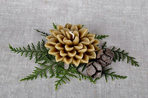 Decorative Candle ''Lotus'' by MadeHeart | Buy handmade goods