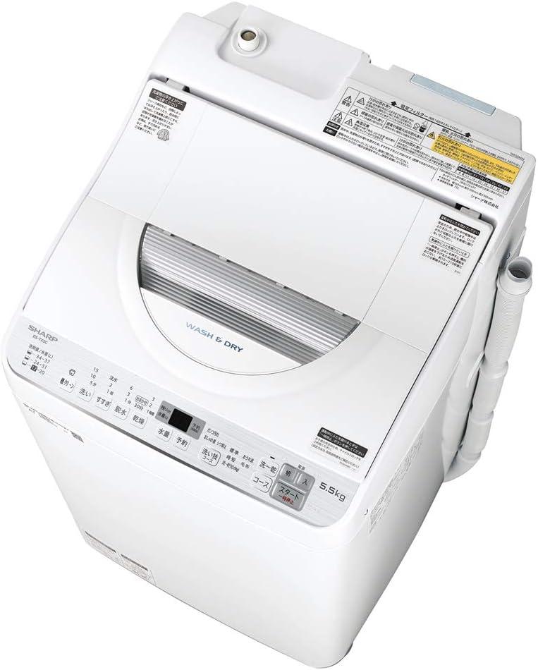 シャープ タテ型洗濯乾燥機 ES-TX5C-S