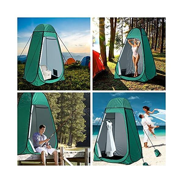 61vMaJhqT0S Camping Toilettenzelt riggoo Duschzelt Pop Up Umkleidezelt Privatsphäre Toilette Umkleidekabine Lagerzelt Mobile Outdoor…