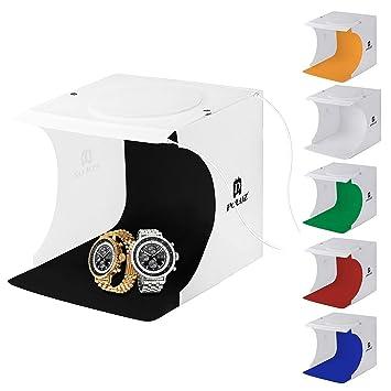 Jhs-tech Kleine Faltbare Led Lichtbox Sof Mini Tragbares Fotostudio Schießzelt Aufnahmetische & Lichtwürfel Fotostudio-zubehör