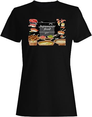 INNOGLEN Comida Japonesa Japón Sushi Camiseta de Las Mujeres v749f: Amazon.es: Ropa y accesorios