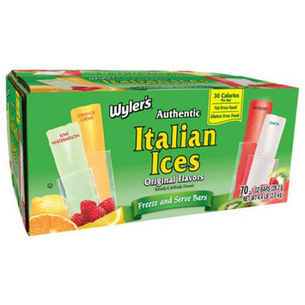 Wyler's Authentic Italian Ice Freezer Pops, Original, 70 Count