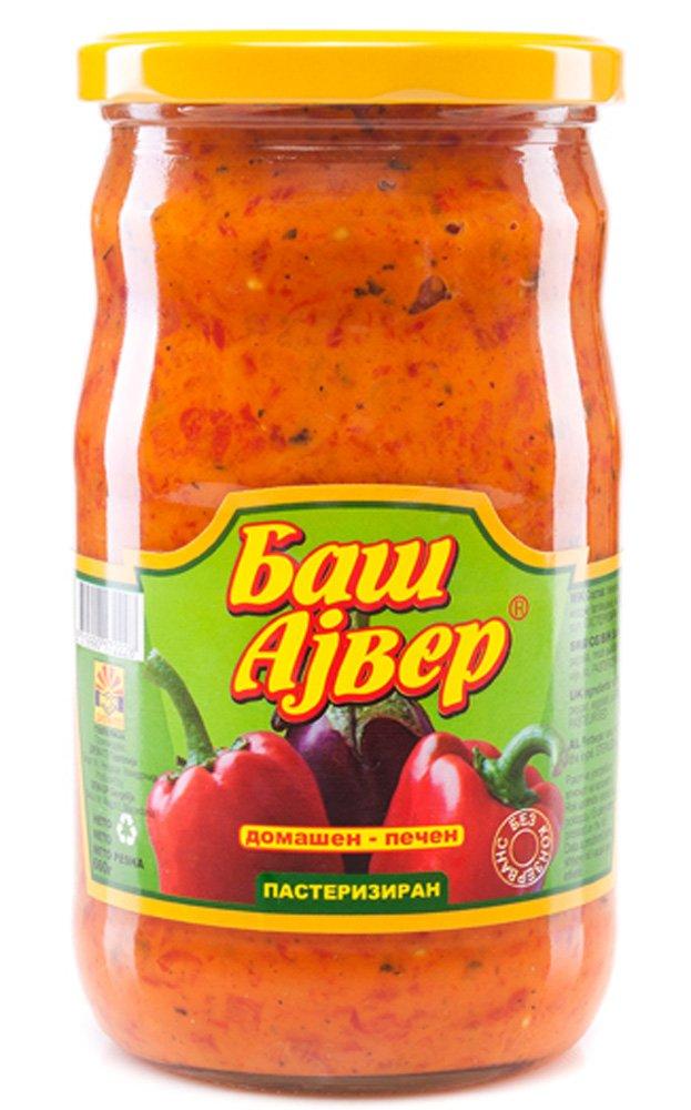 Bas Ajvar mild Homemade roasted pepper and eggplant spread 720ml by BAS