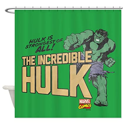 Amazon CafePress Vintage Hulk Decorative Fabric Shower Curtain
