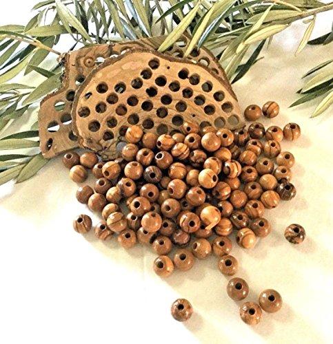 7mm Wood Round Beads - 500 ~ Jerusalem Olive Wood round beads Jewelry Holy land Figure ( 7mm )