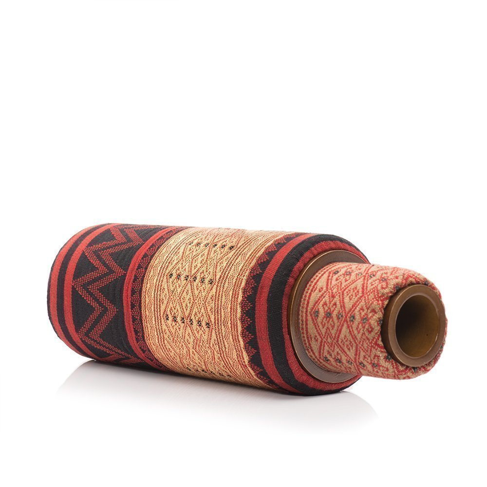 Lanna Roller ''Large Nesting Set'' 2-Piece Natural Massage Foam Roller Set with Naga Cover   6'' Dia + 4'' Dia by Lanna Roller