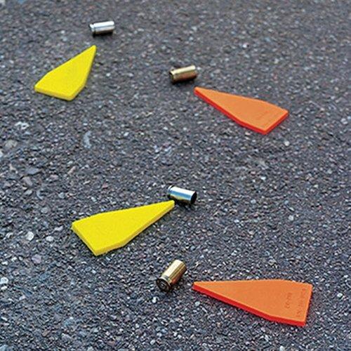 Fuente forense DE-1 Marcadores de evidencia de primera respuesta, naranja fluorescente (paquete de 20)